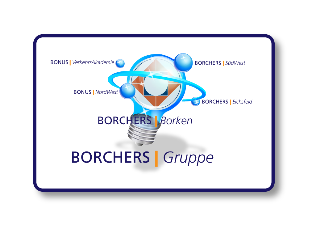 BOGRU BORCHERS Gruppe Illustration.Gluehbirne DR